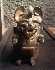 Bezelao,Dios del inframundo y la fertilidad,cultura zapoteca  Museo de Antropologia e Hist.