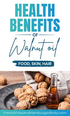 Walnut Oil benefits your hair and skin and it can be good for your health too. Walnut Oil Benefits, Health Benefits Of Walnuts, Healthy Life, Healthy Eating, Extra Virgin Oil, Cold Pressed Oil, Refined Oil, Cold Dishes, Vitamin E