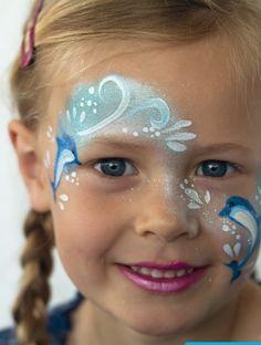 Zo schmink je een dolfijn op je gezicht | Madame Creatief