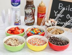 Build Your Own Ice- Cream Sundaes! Kids and adults will love!