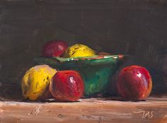 Still life with apples and quinces