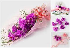 """Usted mamá amará este especial hecho a mano """"AMOR"""" bouquet de chocolate marca haces! Hay muchas maneras de hacer flores con chocolates y caramelos, este tu"""