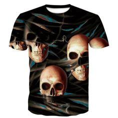 Tangled Skull T-Shirt | Skullflow T Shirt And Shorts, Printed Shorts, Clothing Sites, Men's Clothing, Vintage Tee Shirts, Skull Shirts, Nice Dresses, Casual Shorts, Men Casual