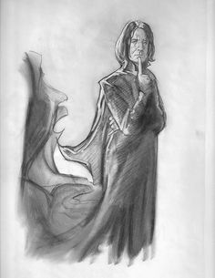 Snitchseeker posted some sketches from the HP movies by conceptual artist James Goodrich Here are some of the Snape images under the cut. See lots of other concept art by clicking the artist's name above ~ Enjoy! Professor Severus Snape, Harry Potter Severus Snape, Alan Rickman Severus Snape, Severus Rogue, Draco And Hermione, Harry Potter Room, Harry Potter Anime, Harry Potter Characters, Harry Potter Drawings Easy