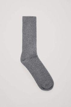 0c93efb83c9 Cos RIBBED WOOL-CASHMERE SOCKS Cashmere Socks