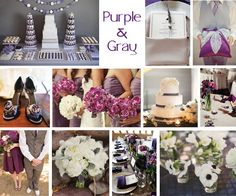 Purple Wedding Ideas For Tables | Inspiration Board: Purple & Gray - Every Last Detail