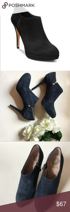 Vince Camuto Elvin Platform Booties Navy Blue Vince Camuto Elvin Platform Booties Navy Blue  Size 8  Elegant Bootie  Great Condition   Thank You for looking and please look at my closet  Offers Welcome Vince Camuto Shoes Ankle Boots & Booties