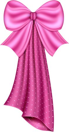 Large Pink Dotty Bow Clipart