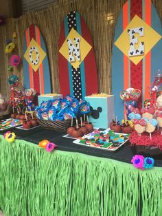 Dessert Station at Mickey Mouse Luau 1st Birthday Party. Design by Southern Event Planners.