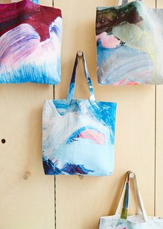 Tote Bags by Shilo Engelbrecht. Photos by Sean Fennessy via thedesignfiles.net