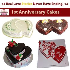 Order cake online in Delhi from YummyCake. Send Eggless Cakes to your loved ones from best shop. 1st Anniversary Cake, Online Cake Delivery, Cake Online, Cool Birthday Cakes, Cake Shop, Real Love, Yummy Cakes, True Love, Patisserie