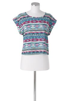 deLia*s tribal shirt.  I have this and it is super comfy/cute! :)