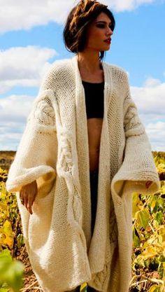 MAXI CARDIGAN sweater - street look for fall 2013