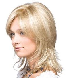 Hot Sale 100% Human Hair Medium Smooth Straight Blonde about 12 Inches Lace Wig: wigsbuy.com by GraceDewey