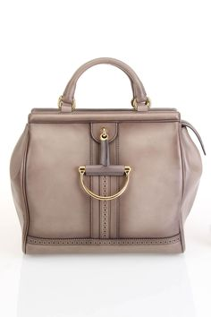 Duilio Brogue Top Handle Bag In Gray