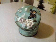 Купить Шкатулка Бабочки в цветах - комбинированный, коричневый, бежевый, шкатулка, шкатулка ручной работы