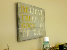 Be The Good Sign Rustic Sign Gray and Yellow Room Decor Home Decor Home and Living. $45.00, via Etsy.