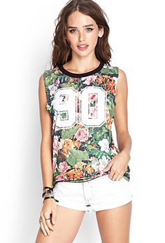 Floral Jersey Top | FOREVER21 - 2000066683