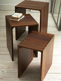 New England Shaker Nesting Tables Shaker Furniture, Solid Wood