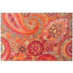 "Paisley Art Clearance $249.98   Traditional, contemporary, global, retro. Our large Paisley Art canvas can take a room in countless directions. Hand-painted on 100% cotton canvas, the only way this joyful mélange of colors and shapes can't go is unnoticed.        Orange/pink/red/yellow      60""W x 2.5""D x 40""H      Cotton canvas, paint, wood      Hand-painted      Exclusively Pier 1 Imports"