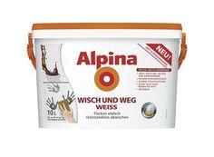 Alpina Wandfarbe Spezialfarbe Wisch und Weg Weiß