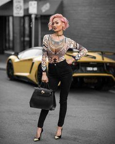 البلوجر الاسترالية Micah Gianneli صاحبة مدونة #Slickerthanyouraverage و إطلالاتها المتكلفة و الفخمة للغاية.