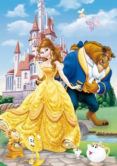 Beauty and the Beast Photo: Belle and Beast Disney Princess Belle, Disney Princess Pictures, Disney Princesses And Princes, Cute Disney, Disney Dream, Baby Disney, Disney Nursery, Disney Images, Disney Pictures