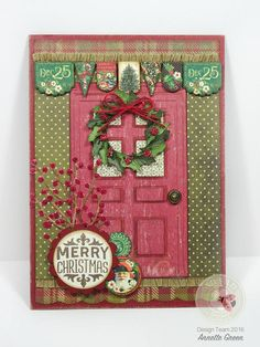 Annette Green is on the blog this morning with a stunning holiday project! Read more on our blog: http://wp.me/p4kQzc-5i4 For this masterpiece, Annette creates an a beautifully decorated holiday door for the front of her card. Annette combines Susan's Garden Club's Carolina Farmhouse Door which she gives a rustic touch by cutting it in Els van de Burgt Studio's Through the Lens patterned cardstock (wood series). Find out more on the full post!