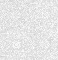 Imara Mist (1618/655) - Prestigious Wallpapers - An all over symmetrical damask design, with delicate detailing. Shown here in light mist grey and off white. Other colourways are available. Please request a sample for a true colour match. Paste-the-wall product.