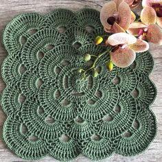 Crochet Afghan Stitch, Crochet Doily Rug, Crochet Placemats, Crochet Pillow Pattern, Crochet Dishcloths, Crochet Diagram, Crochet Stitches Patterns, Crochet Chart, Crochet Squares