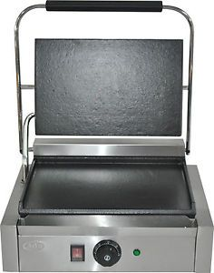 WINTER-SPECIAL-NEW-Single-Large-Panini-Machine-Contact-Grill-Toaster-flat-flat