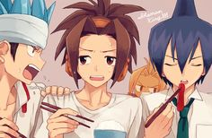 Shaman King, Asakura Yoh, Tao Ren, Usui Horokeru and Amidamaru, My boys <3