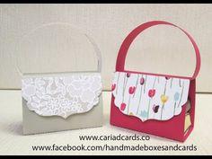 Stampin Up handbag to hold two chocolates - YouTube