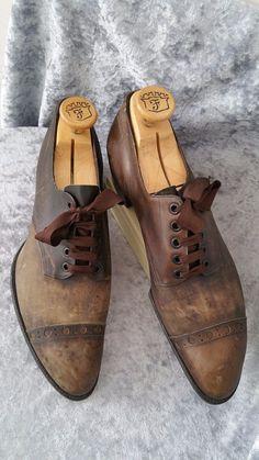 DEAD STOCK 1900 20s BURT & PACKARD US 9.5 D edwardian ANTIQUE VTG mens shoes   eBay