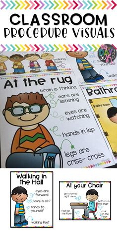 Practicing classroom routines at the beginning of the year is key for a smooth school year. Use these visuals to help demonstrate appropriate behavior. Click the picture to read more.