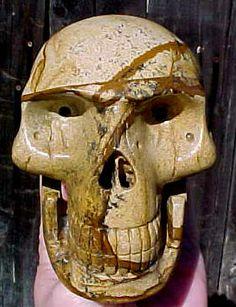 Picture Jasper Carved Crystal Skull