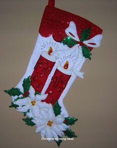 icu ~ 16 DIY Christmas Stockings Full Of Santa's Gifts Felt Christmas Stockings, Christmas Stocking Pattern, Felt Christmas Ornaments, Christmas Ribbon, Christmas Paper, Christmas Presents, Vintage Christmas, Christmas Christmas, Christmas Crafts
