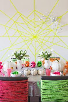 Neon Halloween Ideas   Photos by Jenna Elliott   100 Layer Cakelet