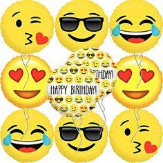 Emoji Happy Birthday Balloons