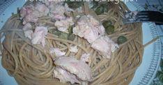 """Din seria """"special pentru studenţi/elevi/bărbaţi""""; deci o reţetă simplă, rapidă, care nu necesită de nici o cultură sau practică culinară. Oricine poate găti aşa ceva. Îndrăzneşte! Spaghetti, Meat, Chicken, Food, Salads, Essen, Meals, Yemek, Noodle"""
