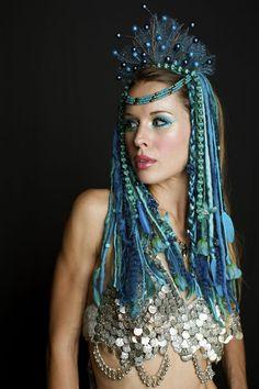 ocean sea goddess headdress - Google Search