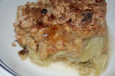 Chef Jeenas food recipes: Saturday Kitchen Recipe - Rhubarb Crumble