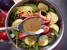 Garlic and Herb Balsamic Dressing Recipe - This flavorful salad dressing has the body of an oil rich vinaigrette due to the addition of chia seeds. It coats the veggies and doesn't roll off like most oil free dressings. This makes an excellent dressing for a green salad or a pasta salad.