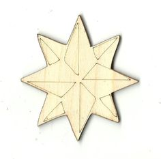 Star Unfinished Laser Cut Wood Shape SKY12