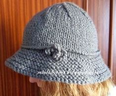 Baby Hats Knitting, Baby Knitting Patterns, Knitting Stitches, Hand Knitting, Crochet Patterns, Easy Knitting Projects, Crochet Projects, Crochet Motif, Crochet Home