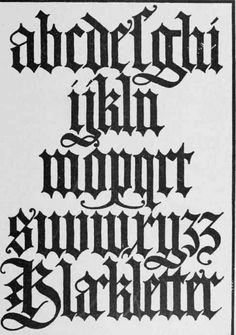 Old Gothic Blackletter