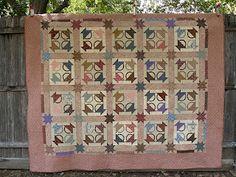 Postage Stamp Basket Quilt.