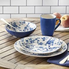 Laura Blue Dinnerware Set from Country Door.