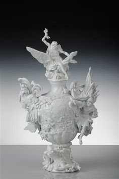 "Kändler, Vase (""Fire"") from garniture for Louis XV, ca. 1741"