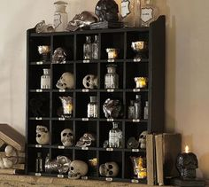 Cubby Organizer | Pottery Barn - they have this is wood but I like it in black for my coffee mug collection